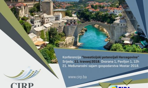"Gospodarska konferencija ""Investicijski potencijali Hercegovine"""